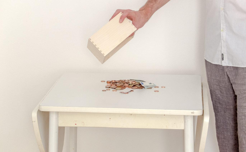 Found money on found table